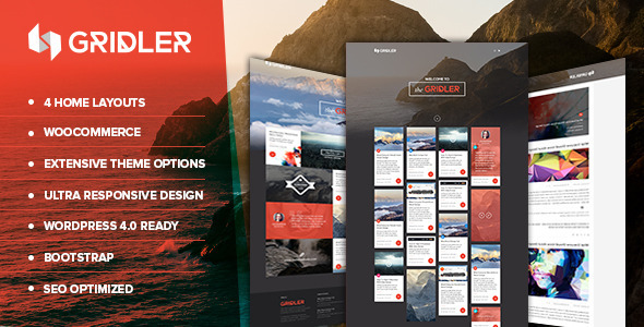 Gridler – Masonry Blog & Portfolio WordPress Theme