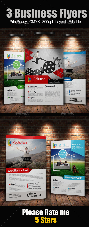 3 Business Flyers Bundle - Corporate Flyers