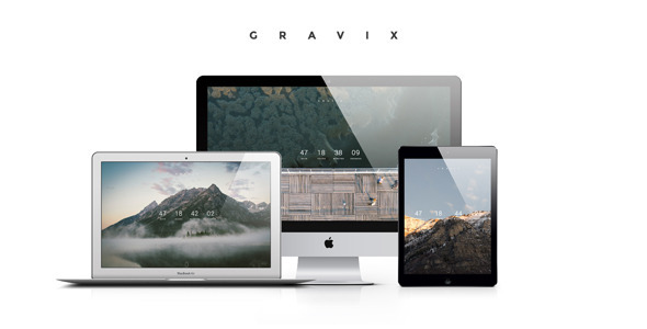 Gravix – A Retina Ready Coming Soon Template