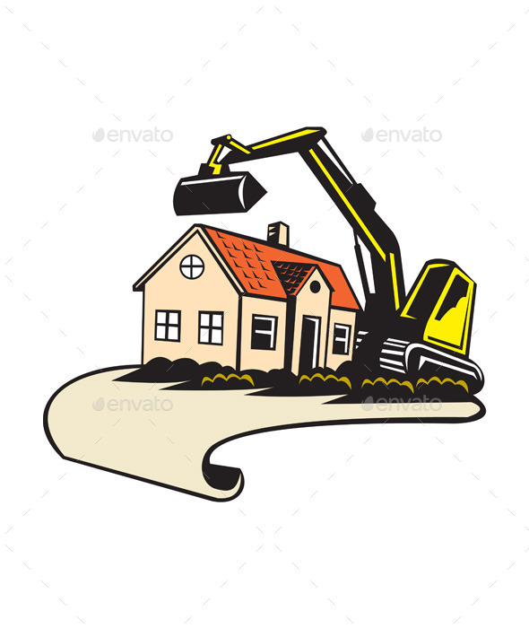 House Demolition Building Removal  - Buildings Objects