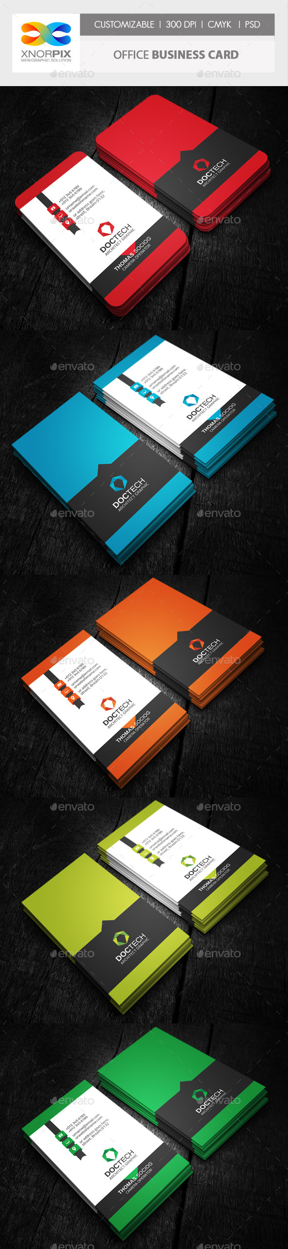 Office Business Card - Corporate Business Cards