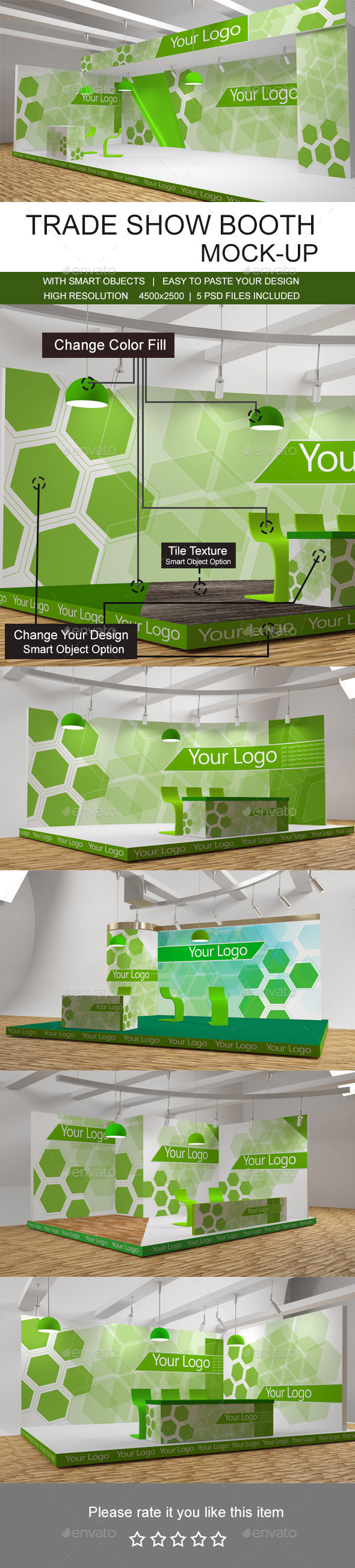 Trade Show Booth Mockups - Signage Print