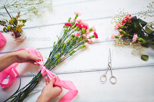 Bunch of carnations - Stock Photo - Images