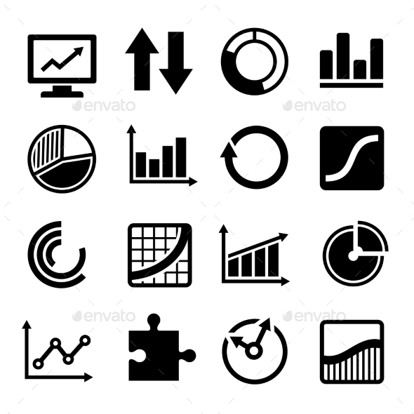 Business Diagram and Infographic Icons Set - Business Icons