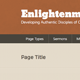 Enlightenment Church Site Template - ThemeForest Item for Sale