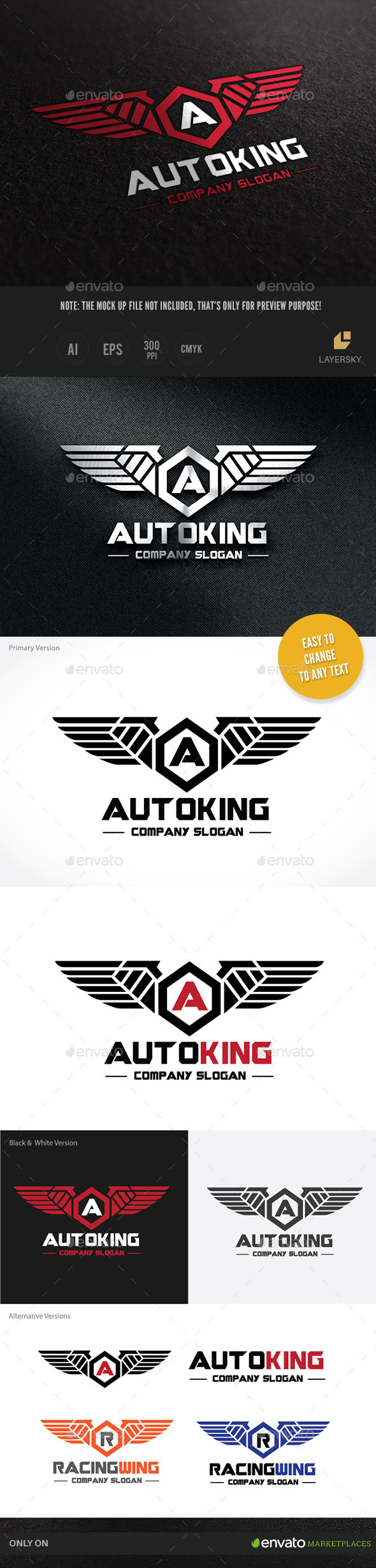 Auto Kinng - Crests Logo Templates