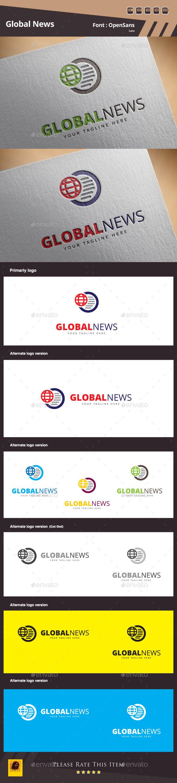 Global News Logo Template - Symbols Logo Templates