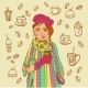 Girl with Coffee - GraphicRiver Item for Sale