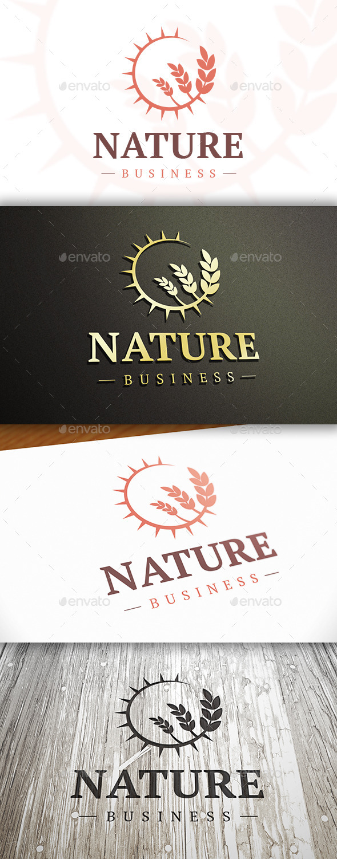 Sun Wheat Logo - Nature Logo Templates