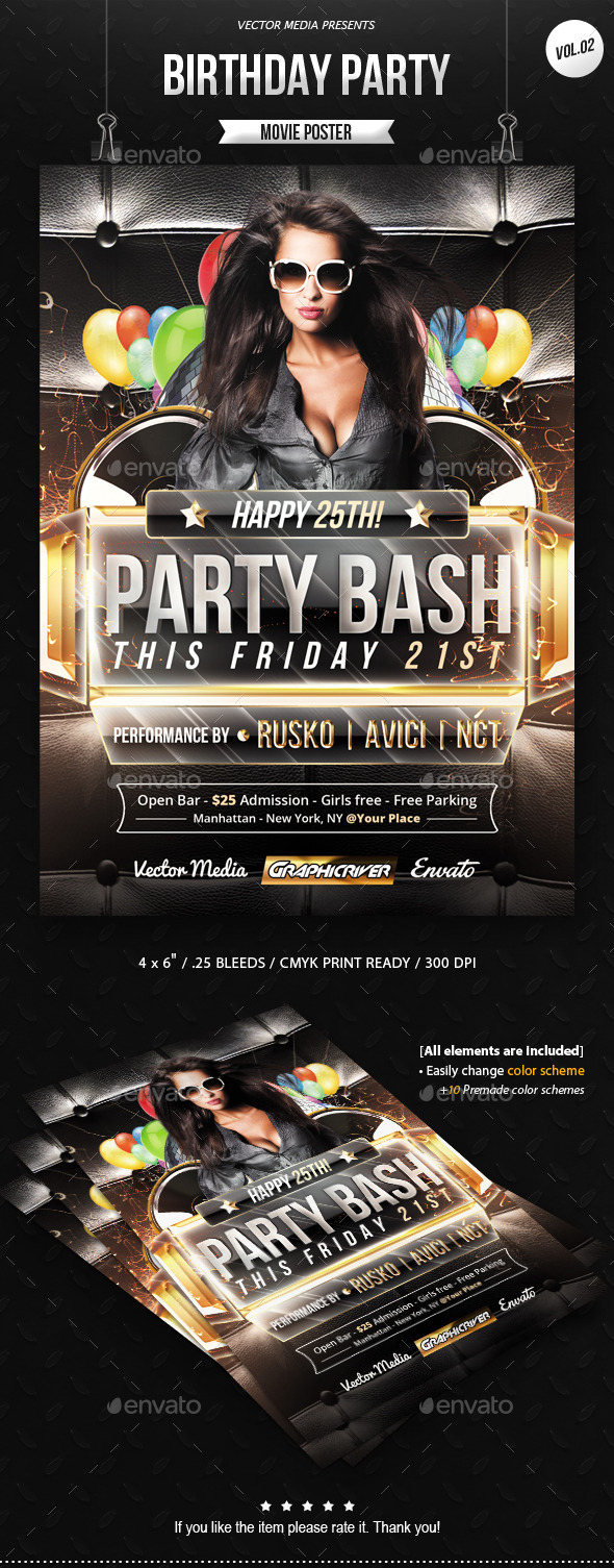 Birthday Party - Flyer [Vol.2] - Clubs & Parties Events