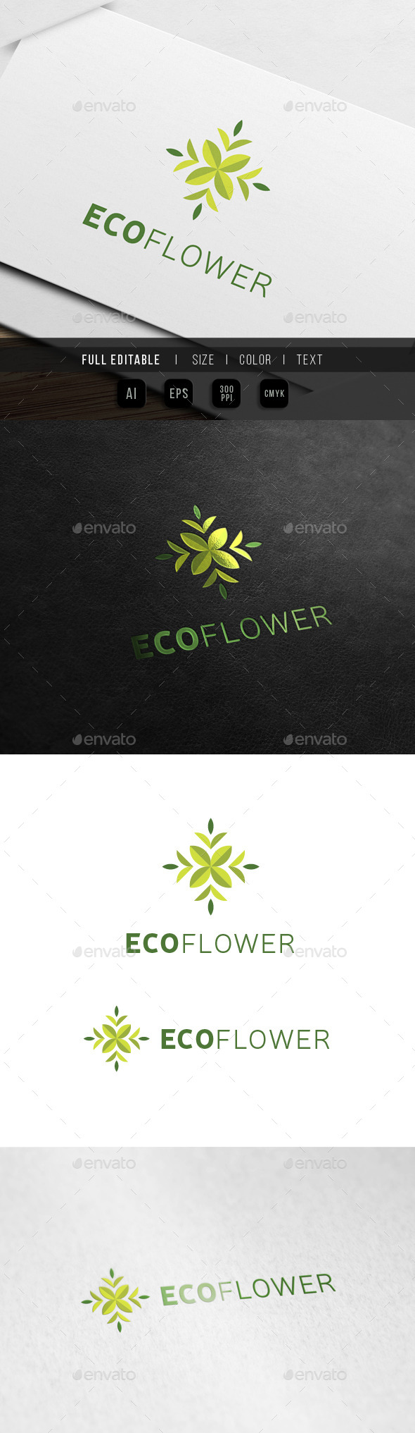 Eco Flower - Floral Art - Nature Logo Templates
