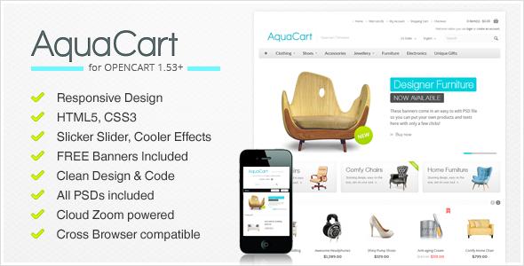 AquaCart – a Premium Responsive OpenCart Template