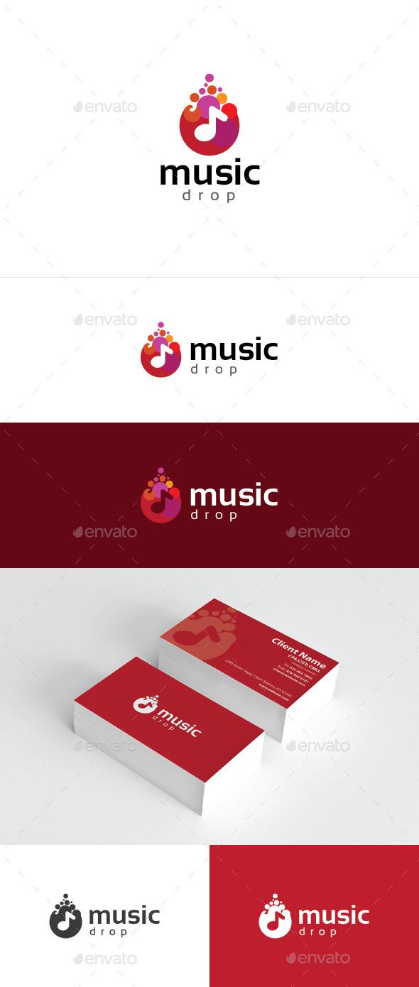 Music Drop - Symbols Logo Templates