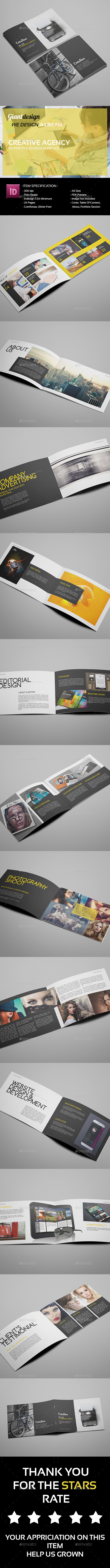 Creative Agency - A5 Portfolio Brochure Vol2 - Portfolio Brochures