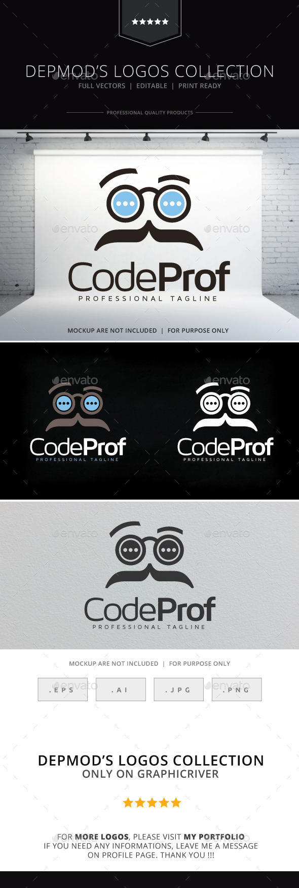 Code Prof Logo - Symbols Logo Templates