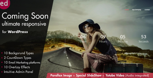 Coming Soon CountDown Responsive Wordpress Plugin - CodeCanyon Item for Sale