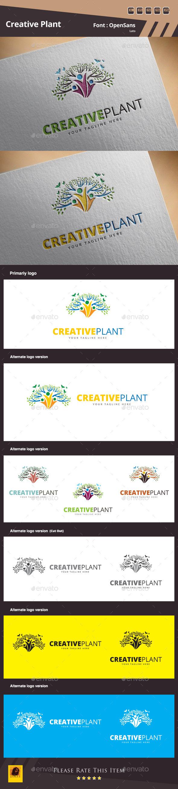 Creative Plant Logo Template - Symbols Logo Templates