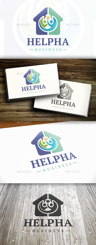 Help House Logo - Buildings Logo Templates