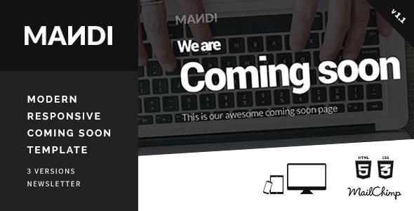 Mandi – Modern Responsive Coming Soon Template