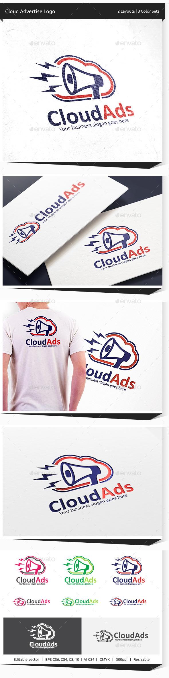 Cloud Advert Logo - Objects Logo Templates