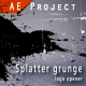 Splatter grunge - Logo opener AE project - VideoHive Item for Sale