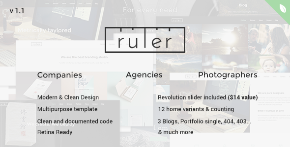 Ruler – Multipurpose One Page