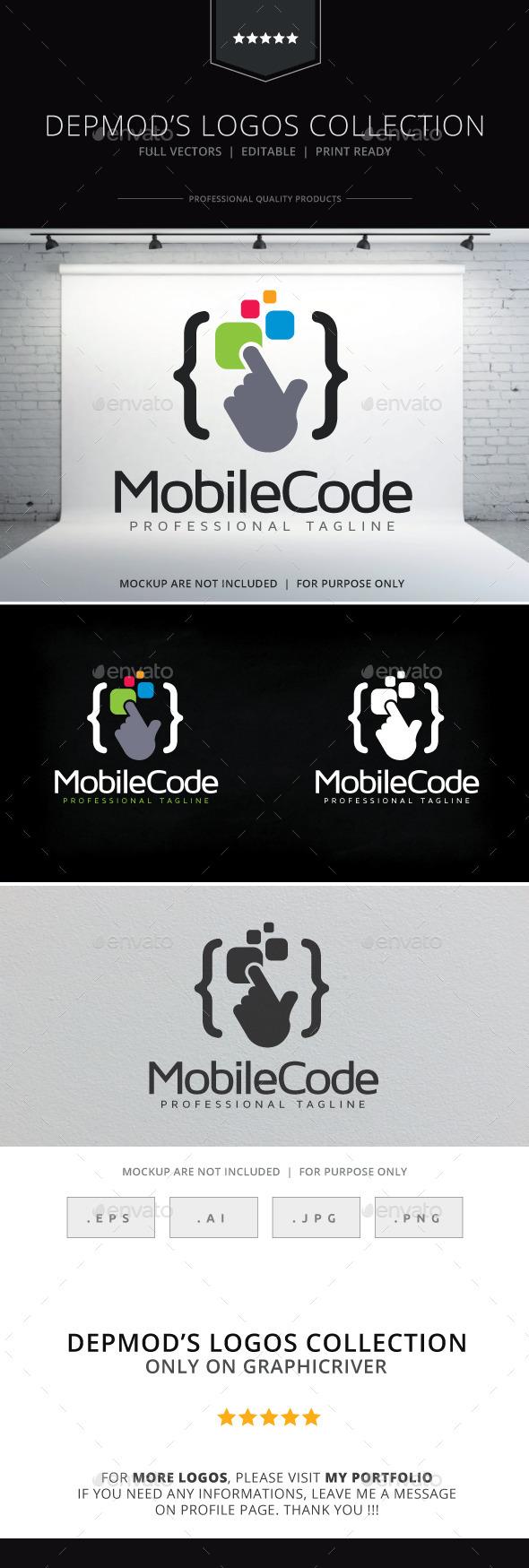 Mobile Code V.02 Logo - Symbols Logo Templates