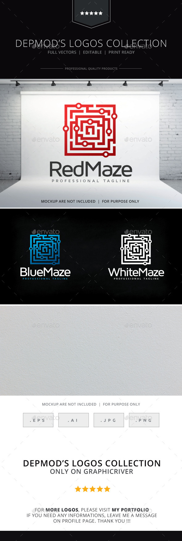 Red Maze Logo - Abstract Logo Templates