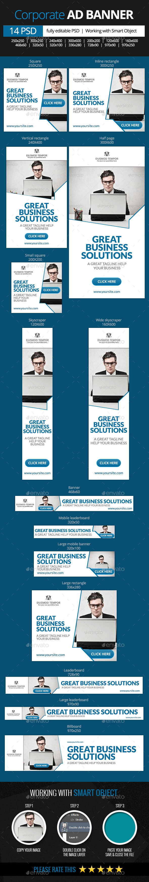 Corporate Business Web Banners - Banners & Ads Web Elements