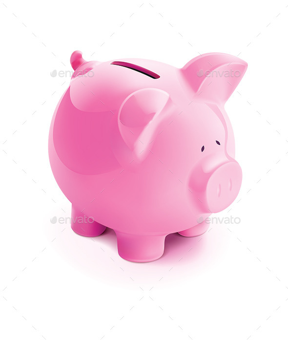 Pig Bank - Objects Vectors