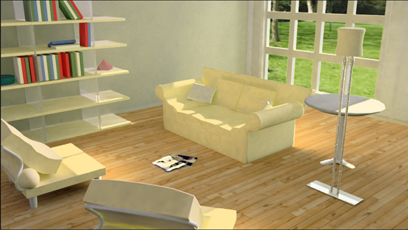 Living room 2 with v-ray setup - 3DOcean Item for Sale