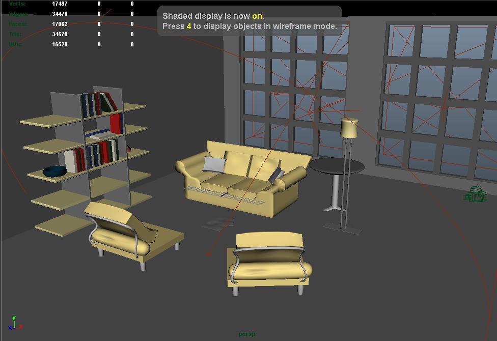Living room 2 with v-ray setup