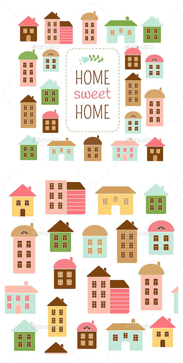 Home Sweet Home - Decorative Vectors