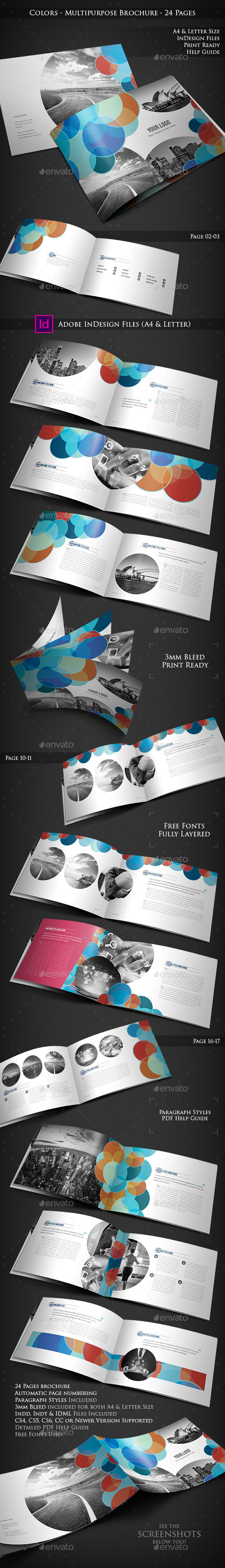 Colors - Multipurpose Brochure 24 Pages - Corporate Brochures