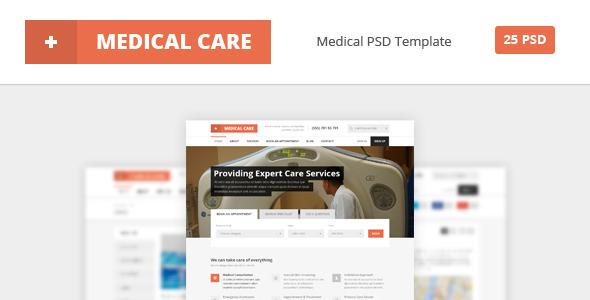 Medical Care - Medical PSD Template - PSD Templates