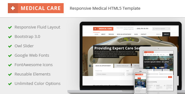 Medical Care - Responsive Medical HTML5 Template