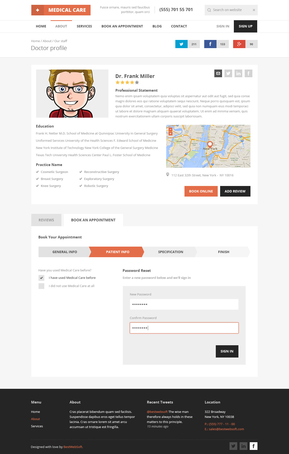 Medical Care Responsive Medical Html5 Template By Bestwebsoft