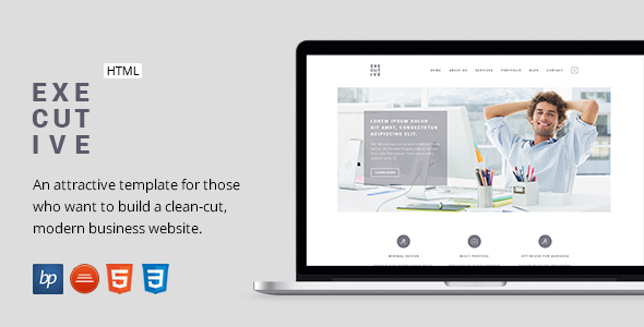 Executive - Responsive Business HTML5 Template - Business Corporate
