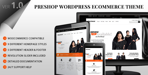 PreShop – Responsive WooCommerce WordPress Theme