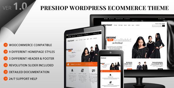 PreShop - Responsive WooCommerce WordPress Theme