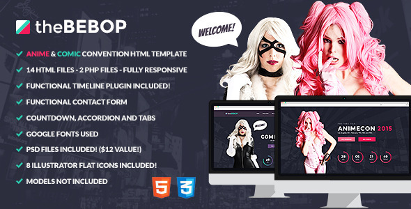 The Bebop Anime and Comic HTML Convention Template - Events Entertainment