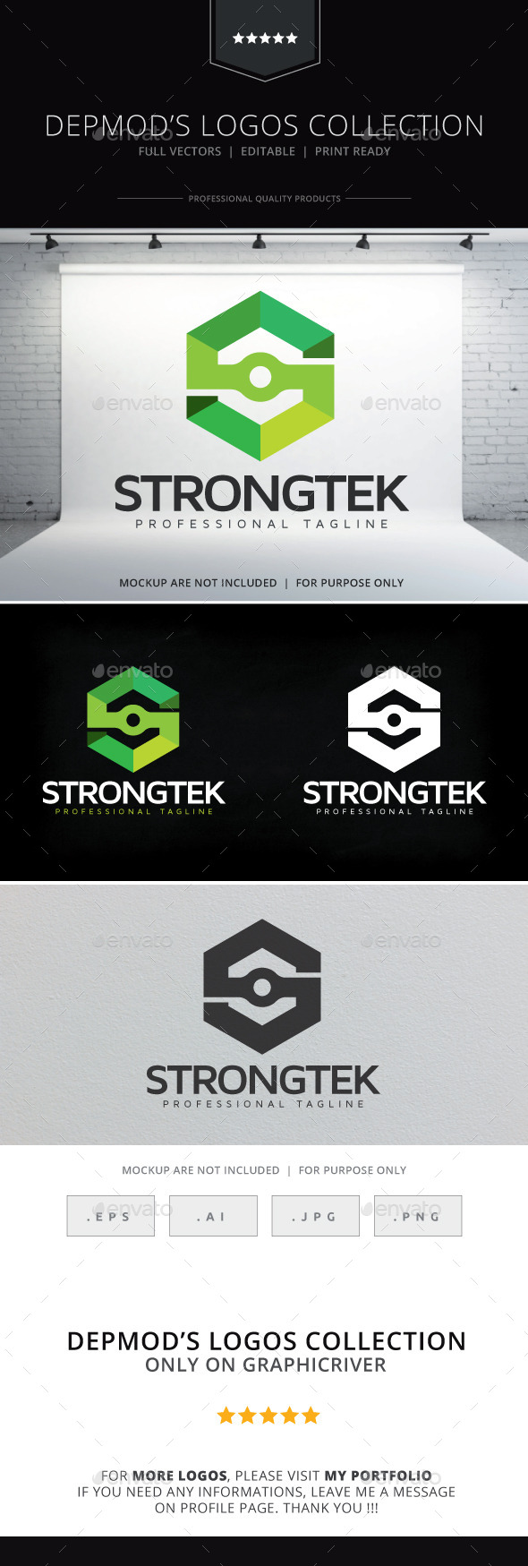 Strongtek Logo - Letters Logo Templates