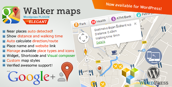 Google Maps Neighborhood Walker for Wordpress - CodeCanyon Item for Sale