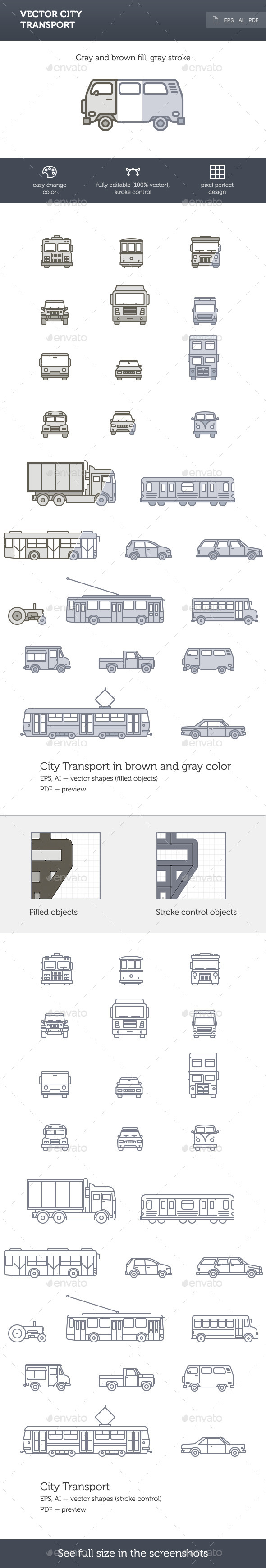Vector City Transport - Objects Vectors