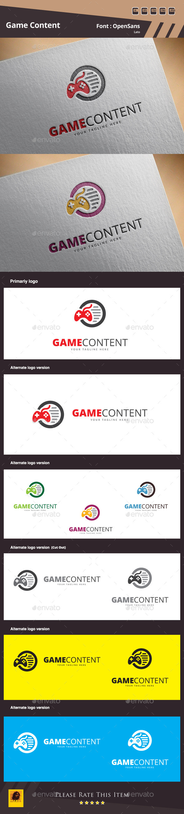 Game Content Logo Template - Symbols Logo Templates