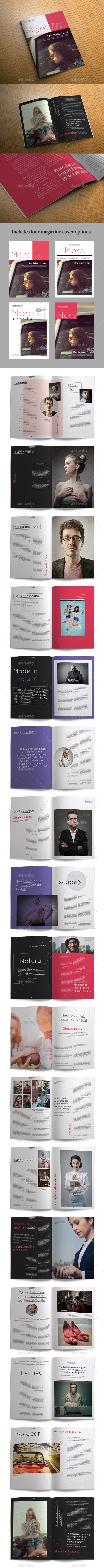 More Magazine - Magazines Print Templates