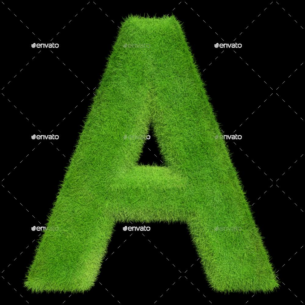 Grass Alphabet By Ogloc Graphicriver