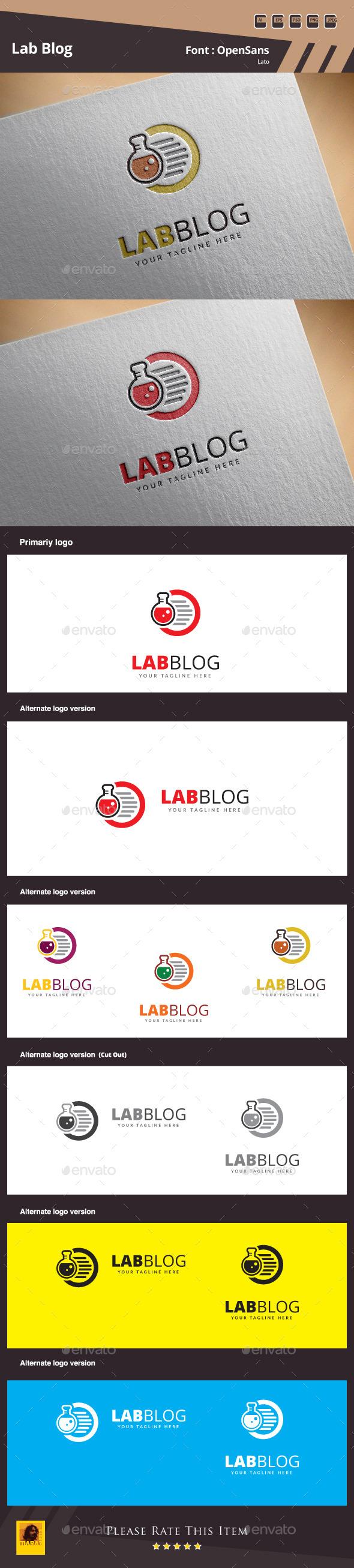 Lab Blog Logo Template - Symbols Logo Templates