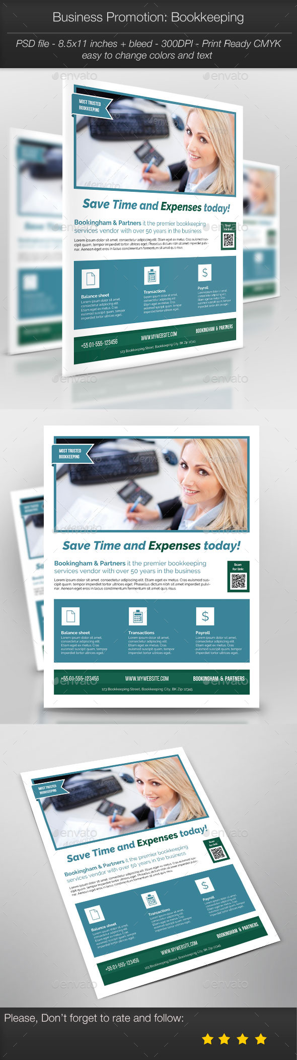 Business Promotion: Bookkeeping - Corporate Flyers