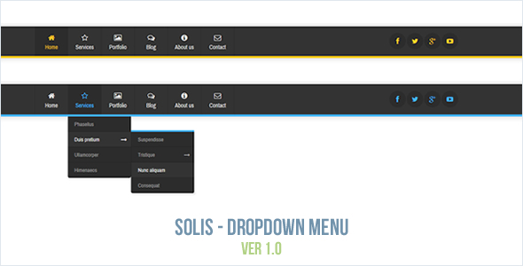 Solis - Dropdown Menu - CodeCanyon Item for Sale
